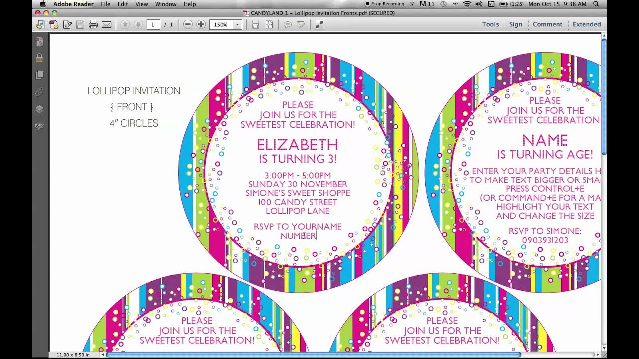 Lollipop Invitation is good invitations example