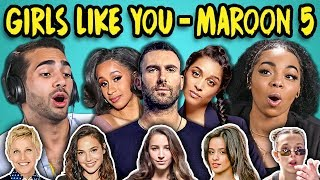 Download Lagu ADULTS REACT TO GIRLS LIKE YOU - MAROON 5 (Ft. Cardi B) Gratis STAFABAND