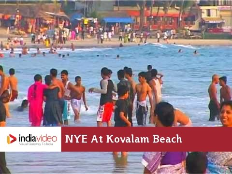 New Year Eve At Kovalam Beach, Kerala video