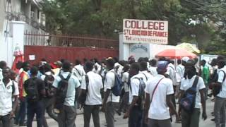 students in Haiti involved in property destruction