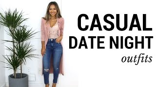 Casual Date Night Outfits + Lookbook | What to Wear to Date Night