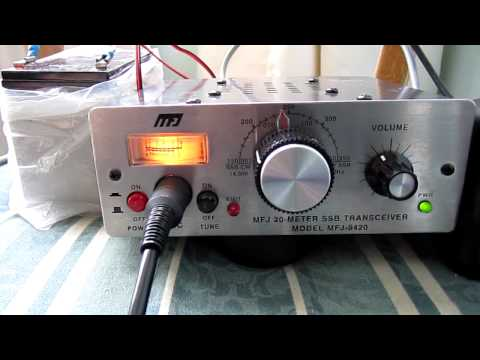 MFJ 9420 QRP TRANSCEIVER QSO M0MDA PD5GVP 8/7/11 PORTABLE STATION TEST