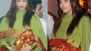 Pregnant Aishwarya at Sanjay Dutt's Mata Ki Chowki