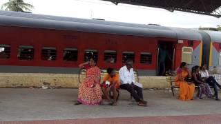 Overtake and Re-Overtake.Chennai Mangalore Express vs EMU