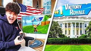 I Flew to the White House and WON Fortnite