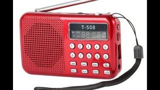Mini Portable LCD Digital FM Radio Speaker USB Micro SD (TF) Card Mp3 Music Player
