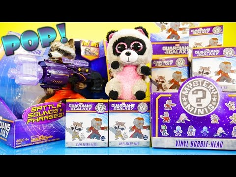 NEW Guardians Of The Galaxy Full Case Unboxing Marvel Funko Pop Mystery Minis Toys Rocket Raccoon klip izle