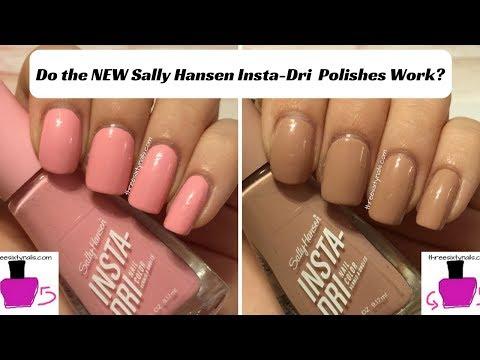 Do the NEW Sally Hansen Insta-Dri Polishes Really Work???