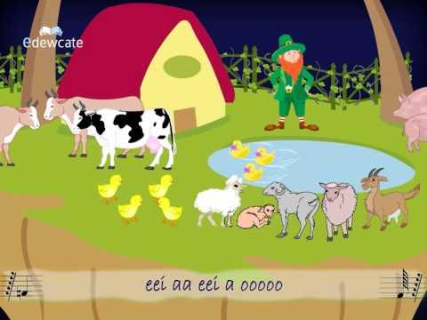 Edewcate english rhymes – Old McDonald had a farm