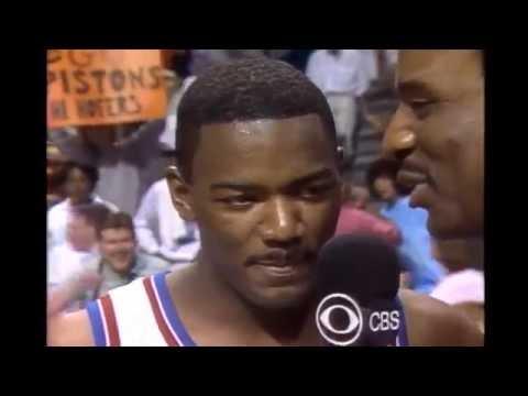 Joe Dumars - Game 2 1989 NBA Finals (26 First Half Points)