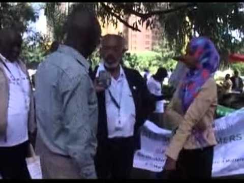 KESSFF MARCH DURING WTO MC10 NAIROBI KENYA