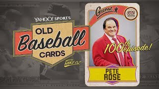 Pete Rose Eats Gum From A Pack of 1986 Baseball Cards For Our 100th Episode | Old Baseball Cards