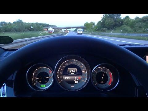 Mercedes E200 CDI Bluetec TOP SPEED TEST