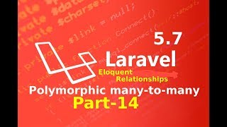 polymorphic  many to many relation part 14 ||  Eloquent relationships and ORM