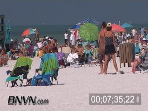 3/18/2006 Warm sunny Siesta Key Beach Footage - Part 2