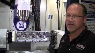 CENTROID Billet Big Block Chevy 5-Axis CNC Cylinder Head Porting at PRI 2012' Tradeshow