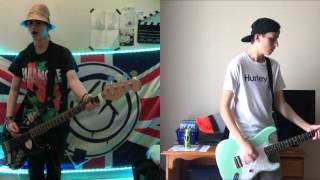blink-182 Anthem guitar and bass cover collab