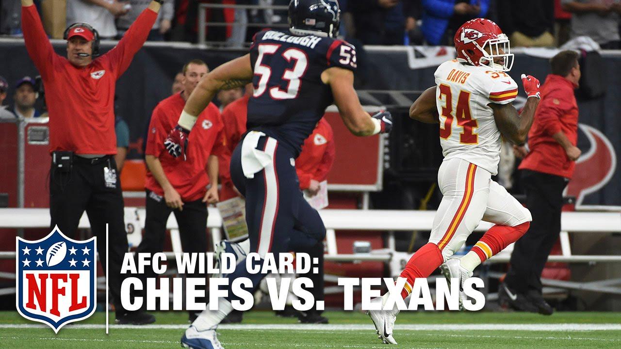 Wild Card - Wild Start! Knile Davis 106-yard Kickoff Return TD | Chiefs vs. Texans | NFL