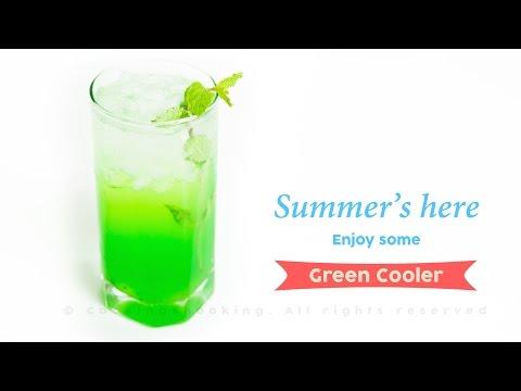 Green Cooler Mocktail Recipe | Quick, Easy & Refreshing ~ Summer Drinks