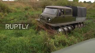 Russia: This restored Soviet screw-propelled vehicle doesn't need a road at all!
