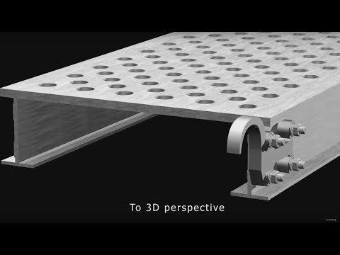 ADG Creative Media Services | Construction Modeling | Scaffold Aluminum Plank