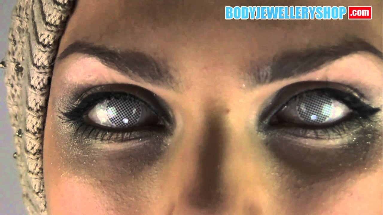 White Contact Lenses Covers Pupil But Lets You See