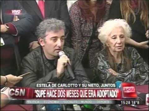 El nieto de Carlotto hizo su primera aparición pública