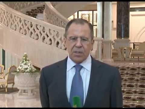 С.Лавров по итогам встречи с Президентом Туркменистана