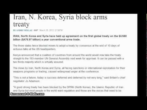 Leave It To Iran, N. Korea, Syria Block Arms Treaty and Help US Citizens Keep Their Guns