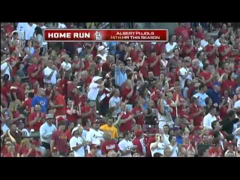 Albert Pujols Home Run Destroys Big Mac Land!