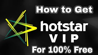 How to Get Hotstar VIP for Free  (No cost)! Get Hotstar premium for free ! Enjoy Hotstar for free