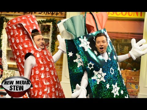 JUSTIN TIMBERLAKE, JIMMY FALLON SNL 'Wrappingville' Rap Takes Twitter by Storm