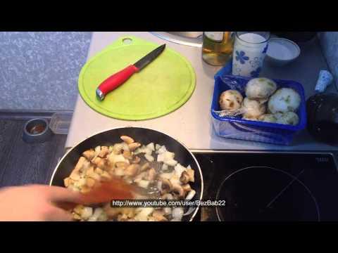 Готовим соус к мясу из шампиньонов