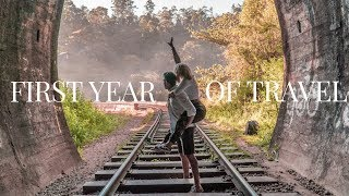 FIRST YEAR OF TRAVEL VLOGGING IN 3 MINUTES | TRAVEL MONTAGE