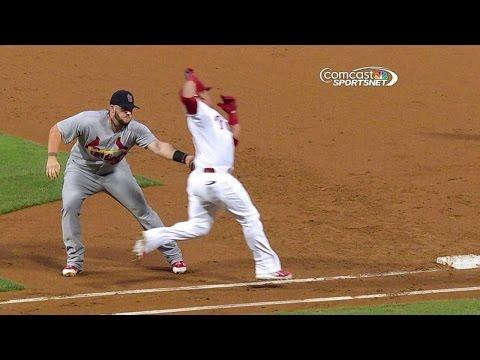 STL@PHI: Carpenter's throw, Adams' tag nab Ruiz