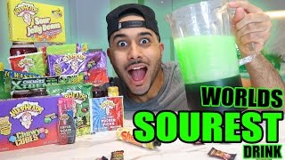 SOUREST DRINK IN THE WORLD CHALLENGE!! ⚠️ ☠ (EXTREMELY DANGEROUS) Warheads, Toxic Waste..