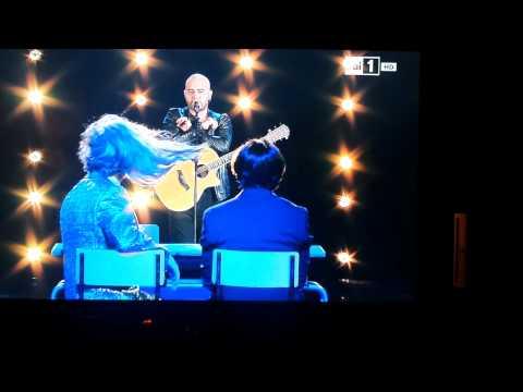 Fiorello e Baldini con Giuliano Sangiorgi  Negramaro Caricatura di  X factor .mp4