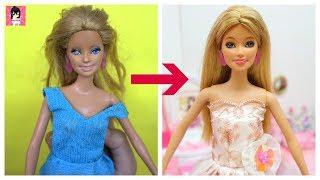 Biến Hóa búp bê XẤU thành ĐẸP - Búp bê Barbie chính hãng / Ami DIY
