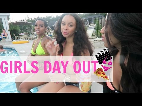 SUMMER VLOG #2 | GIRLS DAY OUT - Lunch date, Movies night, Pool fun!