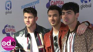 Jonas Brothers arrive backstage at Capital Summertime Ball