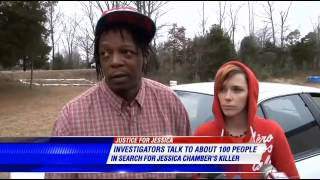 "Jessica Chambers now  ""Over 100 People Questioned."""
