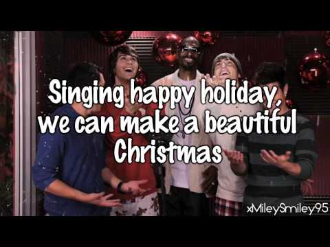 Big Time Rush - Beautiful Christmas (with lyrics)