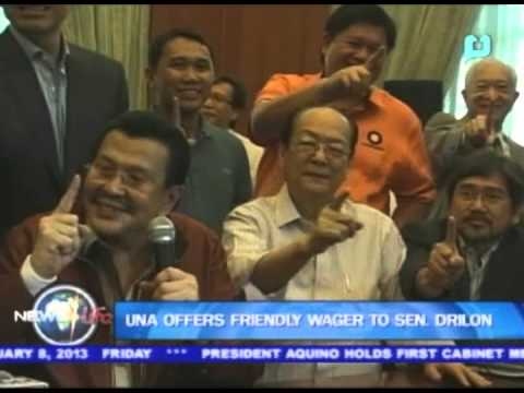 UNA offers friendly wager to Sen. Drilon