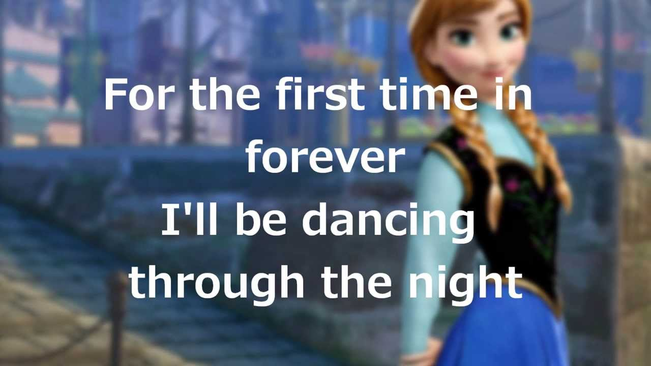 For the first time in forever lyrics frozen youtube