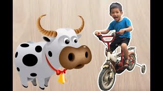 Bé Bo Chơi Trò Chơi Ghép Hình Con Bò - Animal Names Puzzle Cows  - BVA TV
