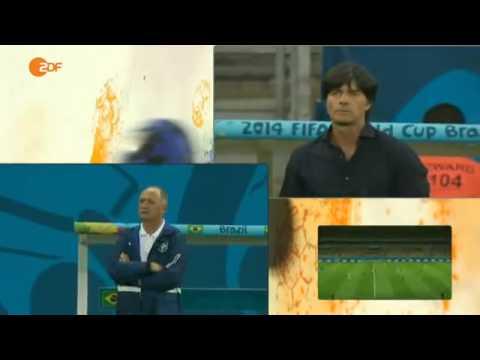 Tore aus Sicht der Trainer, Brazil 1 - 7 Germany, 08.07.2014