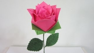 Tutorial - How To Make An Origami Rose #2