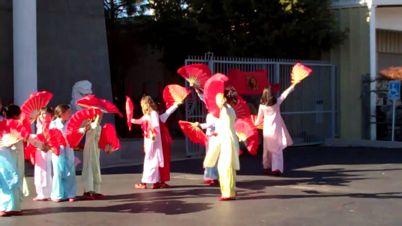Childrens Chinese New Year Fan Dance YouTube