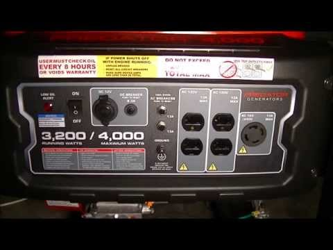 Predator Generator Harbor Freight 4000 Peak/3200 Running Watts. 6.5 HP Generator Review item #69729