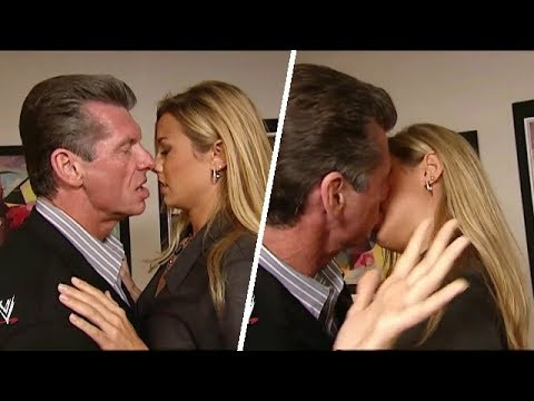 Mr. McMohan and Stacy Keibler Backstage HOT Segment